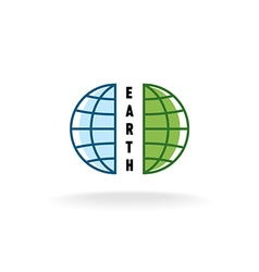 Earth globe logo vector image