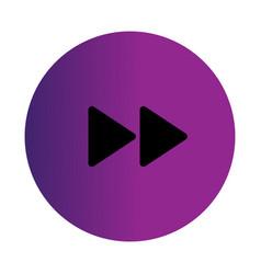flat black forward icon vector image