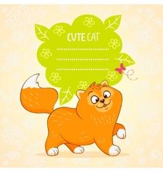 kitten color vector image