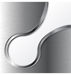 metal on white background vector image vector image