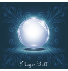 3d magic ball vector