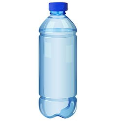 A transparent bottle vector image