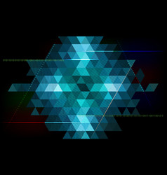 abstract triangle background - technology vector image