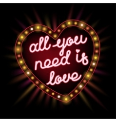 All you need is love frame vector image