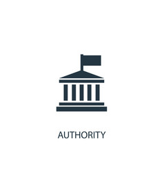 Authority icon simple element vector