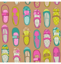 Baby girl shoes background vector