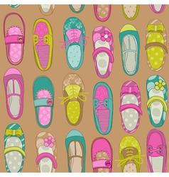 Bagirl shoes background vector