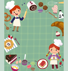 Baking concept background vector