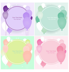 balloons sale business template vector image