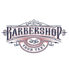 Barbershop logo design on the white background vector