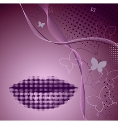 beautiful lady background vector image