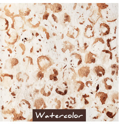 Brown abstract watercolor hand made background vector