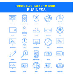 business icons - futuro blue 25 icon pack vector image