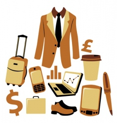 business man accessories set vector image
