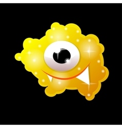 Cartoon bacteria fun character cute monster vector image