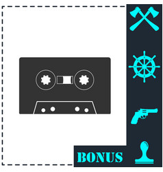 cassette icon flat vector image