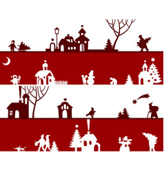 Christmas and new year seamless pattern background vector