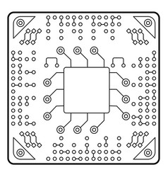Computer chip icon accessories for digital vector