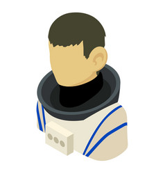 cosmonaut asian icon isometric 3d style vector image