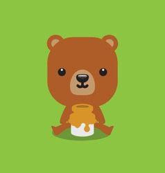Cute bear with honey vector image