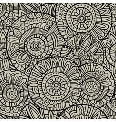 Decorative doodles seamless pattern vector