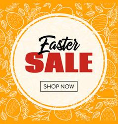 easter sale banner for online store vector image