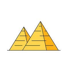 egyptian pyramid icon vector image