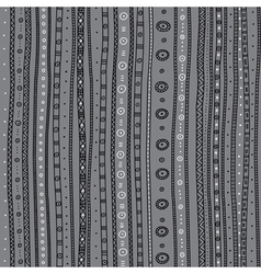 ethnic ornate seamless pattern grey background vector image