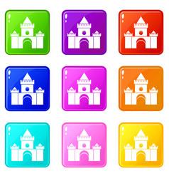 Fairytale castle set 9 vector