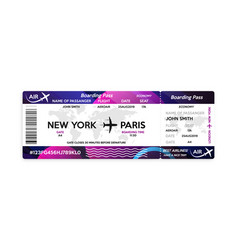 First class boarding pass or plane ticket vector
