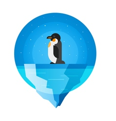 flat style of penguin vector image