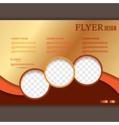 flyer template for design vector image