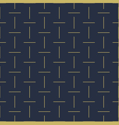 geometric seamless dash pattern - goldish vector image