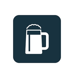 glass of beer icon Rounded squares button vector image