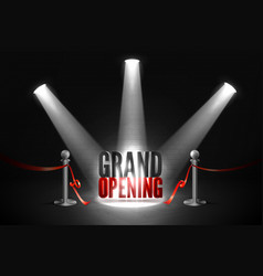 grand opening event banner with red ribbon vector image