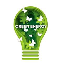 Green energy concept in paper vector
