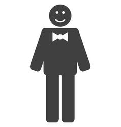 Happy mister flat icon symbol vector