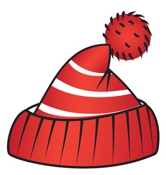 Hat with pompom vector