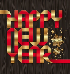 holiday greeting from gold and red paper letters vector image