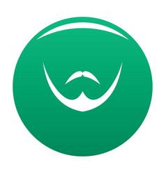 human face icon green vector image
