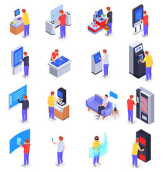interfaces icons set vector image