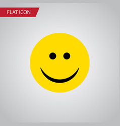 Isolated smile flat icon joy element can vector