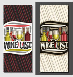 layouts for wine list vector image