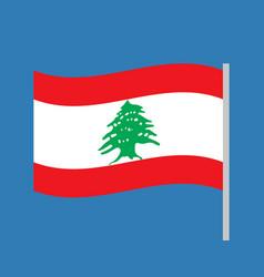 lebanon waving simple flag on sky vector image
