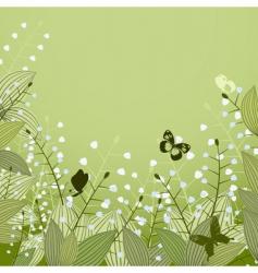 Lilies valley vector