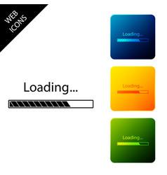 loading icon isolated progress bar icon set vector image