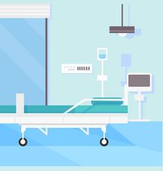 Modern hospital room interior vector