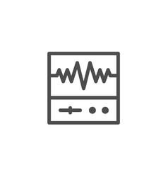 oscilloscope line icon vector image