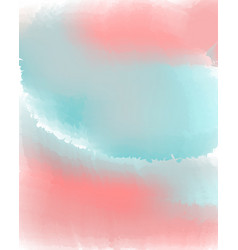 Pink and blue pastel water color abstract vector