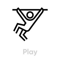 play activity icon vector image